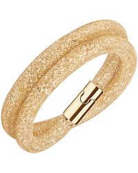 Swarovski Stardust Crystal Mesh Wrap Bracelet - Metallic