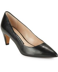 French Connection - Korina Leather Court Shoes - Lyst