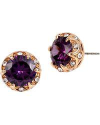 Betsey Johnson Fall Follies Stud Earrings - Purple