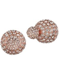 Anne Klein Two-way Pave Stud Earrings - Metallic