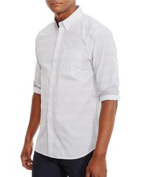 Kenneth Cole - Printed Long Sleeve Shirt - Lyst