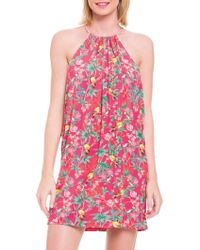 Blush By Profile - Printed Sleeveless Coverup - Lyst