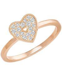 Swarovski - Field Crystal Heart Ring - Lyst