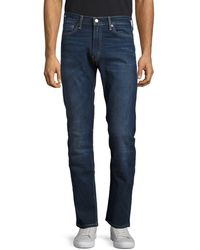 Levi's - 513 Slim Straight Dark Wash Jeans - Lyst