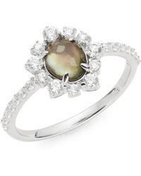 Nadri - Sterling Silver Doublet Ring - Lyst