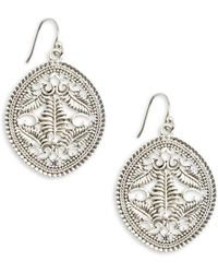 Lucky Brand - Openwork Drop Earrings - Lyst