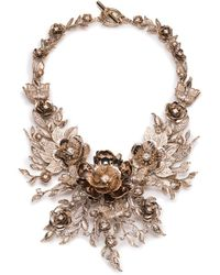 Marchesa - Floral Collar Necklace - Lyst