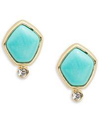Lauren by Ralph Lauren - Turquoise And Caicos Stud Earrings - Lyst