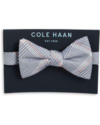 Cole Haan - Silk And Cotton Plaid Bow Tie - Lyst
