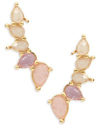 Tai - Stone-accented Climber Earrings - Lyst