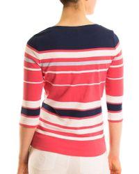 Olsen - Striped Cotton Top - Lyst