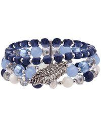 Lonna & Lilly - Semi-precious Wide Beaded Bracelet - Lyst