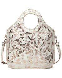 Patricia Nash - White Copper Overdye Moretto Shopper Leather Tote - Lyst