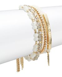 Lord & Taylor - Journey Beaded Layered Bracelet - Lyst