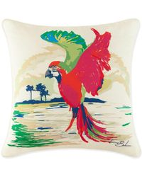 Tommy Bahama - Parrot Embroidered Decorative Pillow - Lyst