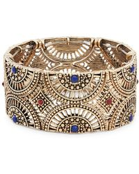 Lord & Taylor - Cutout Crystal Accented Stretch Bangle Bracelet - Lyst