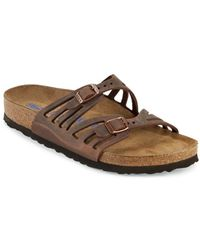Birkenstock - Granada Leather Slip-on Sandals - Lyst