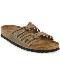 Birkenstock - Granada Oiled Leather Double Strap Sandals - Lyst