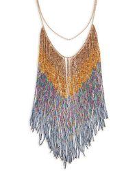 Nanette Lepore - Beaded Fringe Necklace - Lyst