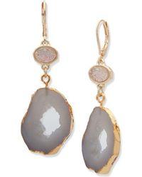Lonna & Lilly - Agate Drop Earrings - Lyst
