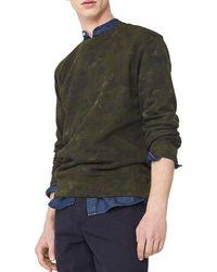 Mango - Camo Cotton Sweatshirt - Lyst