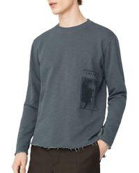 Mango - Front Graphic Textured Sweatshirt - Lyst