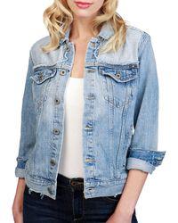 Lucky Brand - Glen Cotton Denim Jacket - Lyst