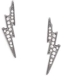 ABS By Allen Schwartz - Thunderbolt Pave Earrings - Lyst