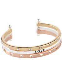 BCBGeneration - Love Three-row Cuff Bracelet - Lyst