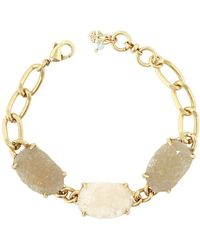 Lucky Brand - Lost And Found Semi-precious Druzy Link Charm Bracelet - Lyst