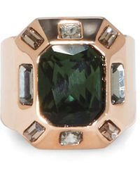 Vince Camuto - Geometric Crystal Cocktail Ring - Lyst