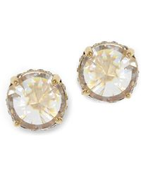 Vince Camuto - Crystal Micro Pave Bezel Setting Stud Earrings - Lyst