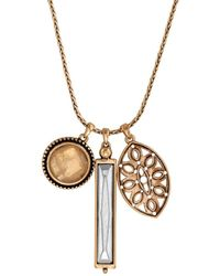 Lucky Brand - Heritage Holiday Two-tone Charm Necklace - Lyst