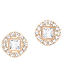 Swarovski - Angelic Crystal Square Stud Earrings - Lyst