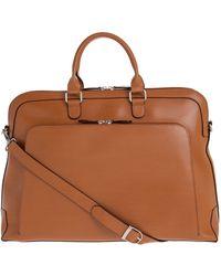 Lodis Audrey Brera Grain Leather Briefcase - Purple