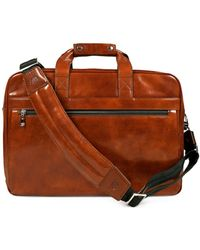 Bosca - Leather Stringer Brief Case - Lyst