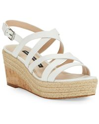 French Connection - Liya Strappy Wedge Sandals - Lyst
