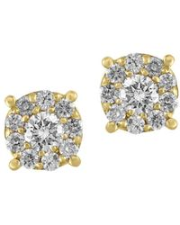 Effy - Doro Diamond And 14k Yellow Gold Stud Earrings, 0.5 Tcw - Lyst