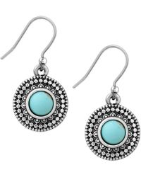 Lucky Brand - Jeweled Medallion Earrings - Lyst
