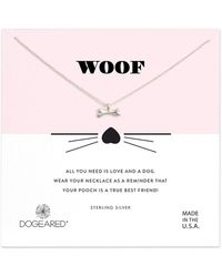 Dogeared - Sterling Silver Woof Pendant Necklace - Lyst
