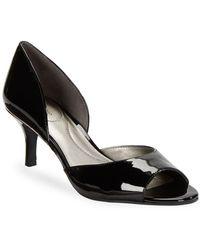 Bandolino - Nubilla Patent Open Toe Heels - Lyst