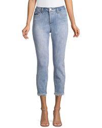 Jones New York - Kurt Cropped Frayed Jeans - Lyst
