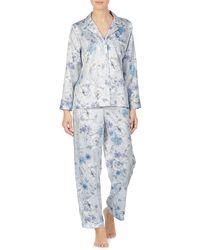 Lauren by Ralph Lauren 2-piece Floral Satin Pyjama Set - Multicolour