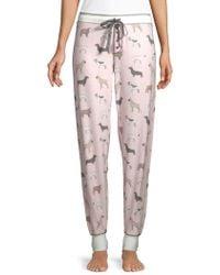 Pj Salvage - Banded Cat-print Pyjama Trousers - Lyst