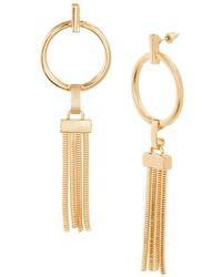 Steve Madden Open Hoop Drop Earrings - Metallic