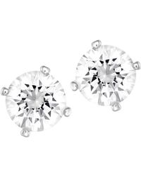 Swarovski Attract Light Reversible Crystal & Faux Pearl Stud Earrings - Metallic