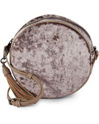 Sole Society - Velvet Circle Crossbody Bag - Lyst