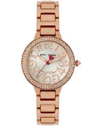 Betsey Johnson Glitz And Rose Goldtone Watch, Bj0023502 - Metallic