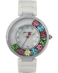 Betsey Johnson - Floating Stone Ceramic Watch, Bj0057801 - Lyst