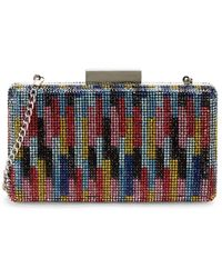 Nina Juliet Minaudiere Beaded Clutch - Multicolour
